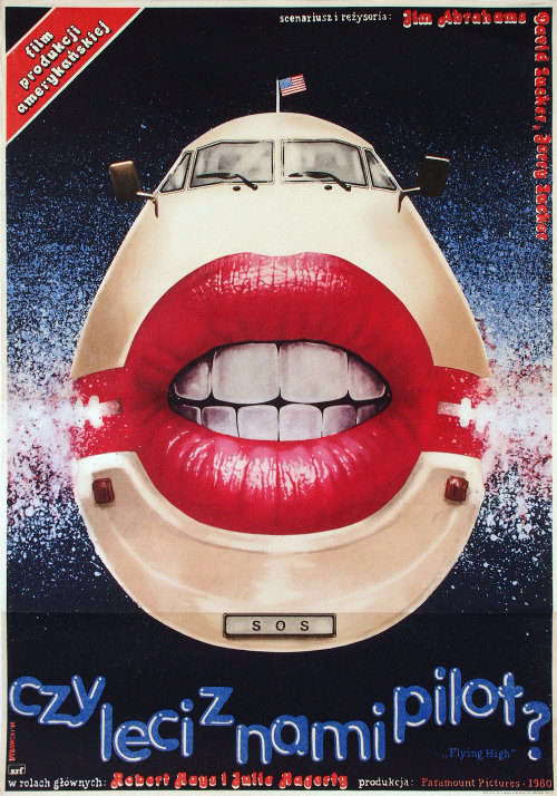 AIRPLANE polish film poster