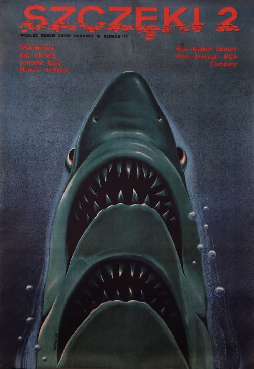 JAWS 2 Polish Film Poster
